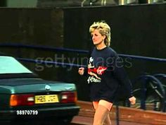 Princess Diana arrives at the Gym - YouTube