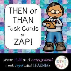 Task cards are popular in many elementary and middle school classrooms. Easily adapted to any content area and grade level, task card makes for a welcome change from just completing a worksheet for skill practice. These 24 task cards (22 skill cards and two ZAP cards) may be used in a literacy center (QR