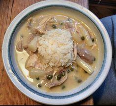 Hühnerfrikassee,Reis,Pfitzauf