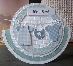 Card Baby Clothes Child Kids Boy Welcome Birthday Clothesline MFT Bun . Card Baby Clothes Child Kids Boy Welcome Birthday Clothesline MFT Bundle of Bab … Fancy Fold Cards, Folded Cards, Handmade Birthday Cards, Greeting Cards Handmade, Baby Scrapbook, Scrapbook Cards, New Baby Cards, Shaped Cards, Baby Shower Cards
