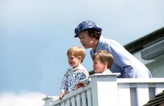 Hanging out with the Queen (1987). | 15 Sweet Photos Of William And Harry When They Were Little