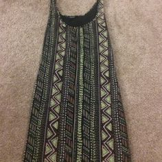Green, brown and black mini dress. Neat design tight fit dress. Great condition! Forever 21 Dresses Mini