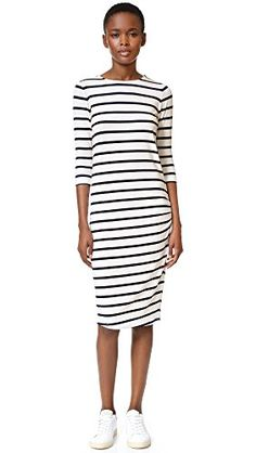 Eleven Paris Womens Basic NavyWhite Striped Dress XSmall >>> To view further for this item, visit the image link.