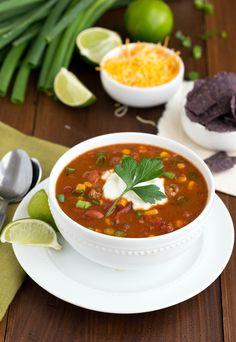 {Slow Cooker} Fiesta Ranch Taco Soup...with ground turkey instead of ground beef, this would be yummy!