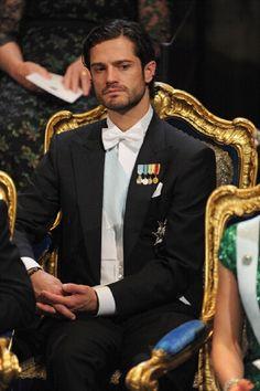 Prince Carl Philip of Sweden attends the 2012 Nobel Prize Award Ceremony at Concert Hall on 10 Dec 2012