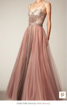 Chilla tulle gown by White Runway | dusty pink