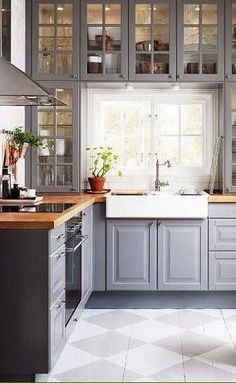 20 Beautiful Kitchens With Butcher Block Countertops    Butcher Block  Counter Tops? And The Window! Framed By Cabinets