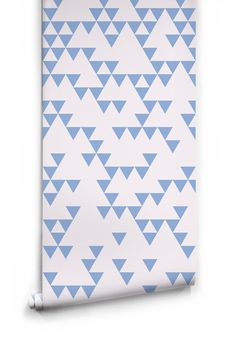 Sample Fracture Wallpaper in Blue Fog by Ingrid + Mika for Milton & King
