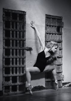 Portrait of a ballerina at the Old Pen in Boise, Image by Mike Reid, Boise photographer.