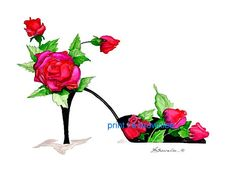 Shoe Print SHIPS FREE  Bewitched By You  Rose by brownleeartstudio, $15.00
