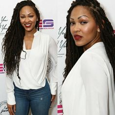 meagan good- faux goddess locs