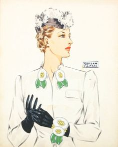 Miriam Haskell Jewelry Water Color Ads