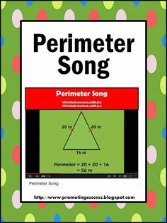 and Area Song and Activities for Kids Math Perimeter Teachers Pay Teachers Promoting-SuccessMath Perimeter Teachers Pay Teachers Promoting-Success Math Resources, Math Activities, Math Games, Math Strategies, Math Songs, Maths Area, Math Measurement, Measurement Activities, Math Multiplication