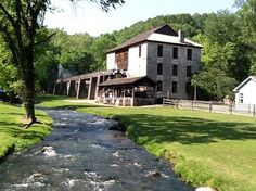 the mill at  Spring Mill State Park Indiana