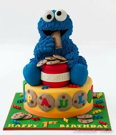 cookie monster kuchen