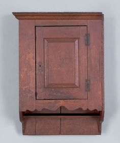 Pennsylvania, poplar hanging cupboard, late 18th century.  (Front View)