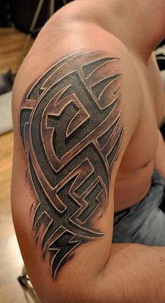 Tribal Tattoo Cover Up, Tribal Tattoo Pictures, Tribal Cross Tattoos, Tribal Shoulder Tattoos, Tribal Tattoo Designs, Celtic Tattoos, Cover Up Tattoos, Sick Tattoo, Badass Tattoos