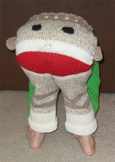 DIY Adjustable Sock Monkey Longies/Shorties Pattern by Alison McCallister, ravelry  #DIY #Sock_Monkey_Pants