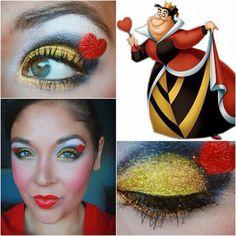 Maquillaje reina de corazones