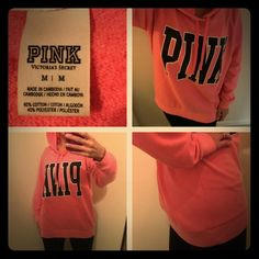 Victoria's Secret pink oversized hoodie.  Same day shipping (excluding Sun/holidays or orders placed after P.O. Closed)  25% off of 2+ bundles totaling over $100. (Items must be purchased at listed price). ❓Please ask any questions prior to buying. I want you to be % Happy❣  Only selling because I am back down to my pre-baby size. This fit over my baby bump comfortably while I was pregnant so it is very oversized. 60% cotton 40% polyester. No holes/stains. Smoke/pet free home. Reference: I'm…
