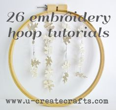 26 things to use embroidery hoops for - cute stuff  ;-)   #DIY #craft