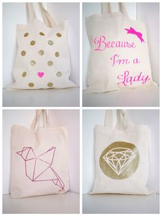 0d23b385d5  DIY  Mon Tote Bag Girly à Paillette !