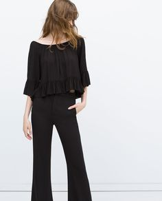 OFF THE SHOULDER SHIRT-Blouses-Tops-WOMAN-SALE | ZARA United States