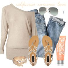 """""""Relaxed Summer Outfit"""" by california-summer-love on Polyvore"""