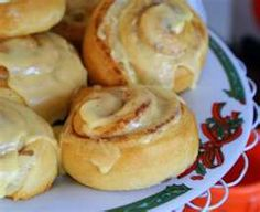 Pillsbury Orange Sweet Rolls  These are now, sadly, only available in the U.S, so I'll have to search for a copycat recipe.  Both my husband and I remember how good these were when we were kids!