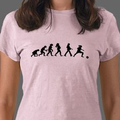 Funny women's and girl's soccer evolution fashion shirts and gifts.  Fantastic selection of shirts and gifts for soccer players and soccer moms on Mothers Day.