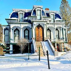 Mansard Roof, Second Empire, Victorian Houses, Empire Style, Homes, Windows, Mansions, House Styles, Building