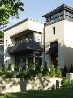Tower/entry as separate volume. Exterior House With Tower Design, Pictures, Remodel, Decor and Ideas - page 5