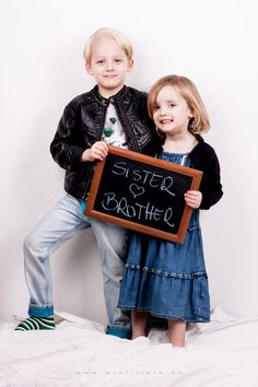 sister and brother - www.hu photo by Krisztina Mate - Children Photography, Siblings, Brother, Lettering, Frame, Decor, Picture Frame, Decoration, Kid Photography