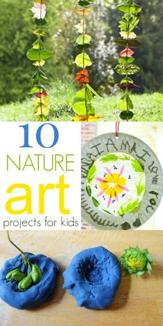 Kids, nature, and art are a natural combo. Here are 10 great ways children can use nature---including flowers, leaves, rocks, and more---in their art making.