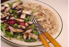 Mushrooms Greens and Rice | Trim Down Club