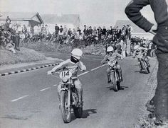 Team Zundapp @ full speed during the 6th day @ the ISDT Isle of Man - 1975