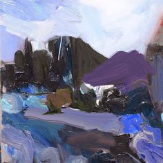 Richard Claremont #Art and #Inspiration - Evening Falls at the Quarry - #Landscapes #Oil #Paintings for Sale