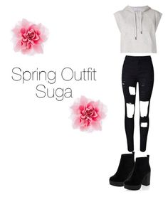 """""""Spring Outfit: Suga"""" by kookiechu ❤ liked on Polyvore featuring New Look, adidas and WithChic"""