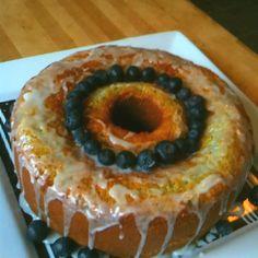 Lemon blueberry poppyseed coffee cake. And I baked it ;-) (I don't bake much)