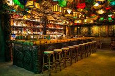 It's speakeasy time! Walk through a hidden cooler in Craft & Commerce and find yourself in a Polynesian paradise called False Idol, complete with hula girls, tropical drinks, and relics from the Pirates of the Caribbean ride at Disneyland. | Photo Credit: Lyudmila Zotova