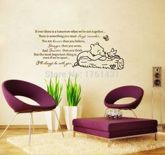 Classic Winnie the Pooh If ever there is a tomorrow baby nursery wall decal bedroom wa1llpaper kids room decoration hm567-in Wall Stickers from Home & Garden on Aliexpress.com | Alibaba Group
