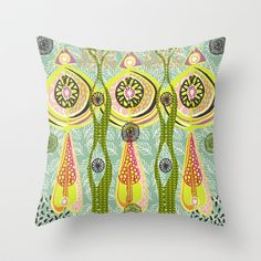 Into the Forest Throw Pillow by Slumbermonkey Designs - $20.00