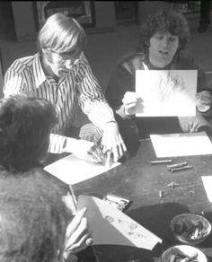 Ray Manzarek and Jim Morrison, The Doors.