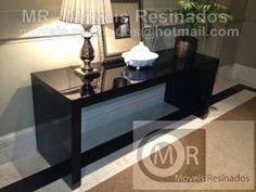 Móveis Resinados: MR - Mesa de jantar redonda e Aparador em resina P...