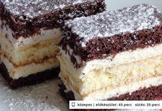 Zákusok s karamelovou šľahačkou - Mňamky-Recepty. Romanian Desserts, Romanian Food, European Dishes, Cake & Co, Hungarian Recipes, Homemade Cakes, Sweet And Salty, Baby Food Recipes, Cupcake Cakes