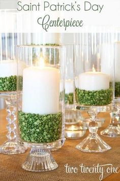 decorating idea from TwoTwentyOne. Split peas they are! ...