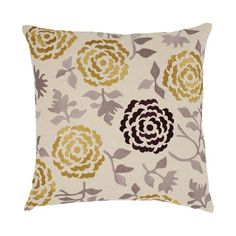 I pinned this Wallflower Pillow in Buttered Toast from the emma at home event at Joss and Main!