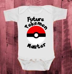 Toddler & Baby Sizes | Future Pokemon Master Baby Bodysuit | Pokeball | Pokemon Inspired | Nerdy Onesie | Boy or Girl | Custom | Ash Ketchum | $14.99+