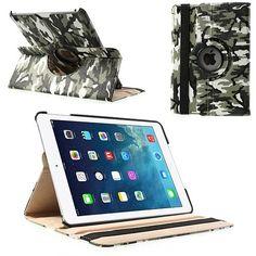 Mesh - iPad Air - Rotatie Cover Hoes Lychee Legerprint | Shop4Tablethoes.nl
