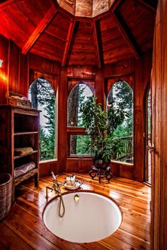 House in Washington Is the Escape You've Always Needed — and It's Affordable! This Tree House in Washington Is the Escape You've Always Needed — and It's Affordable!This Tree House in Washington Is the Escape You've Always Needed — and It's Affordable! Future House, Tree House Designs, Orcas Island, Forest House, House Goals, House In The Woods, Log Homes, Tree House Homes, Yurt House